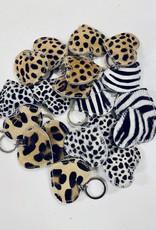 Sleutelhanger Heart Zebra