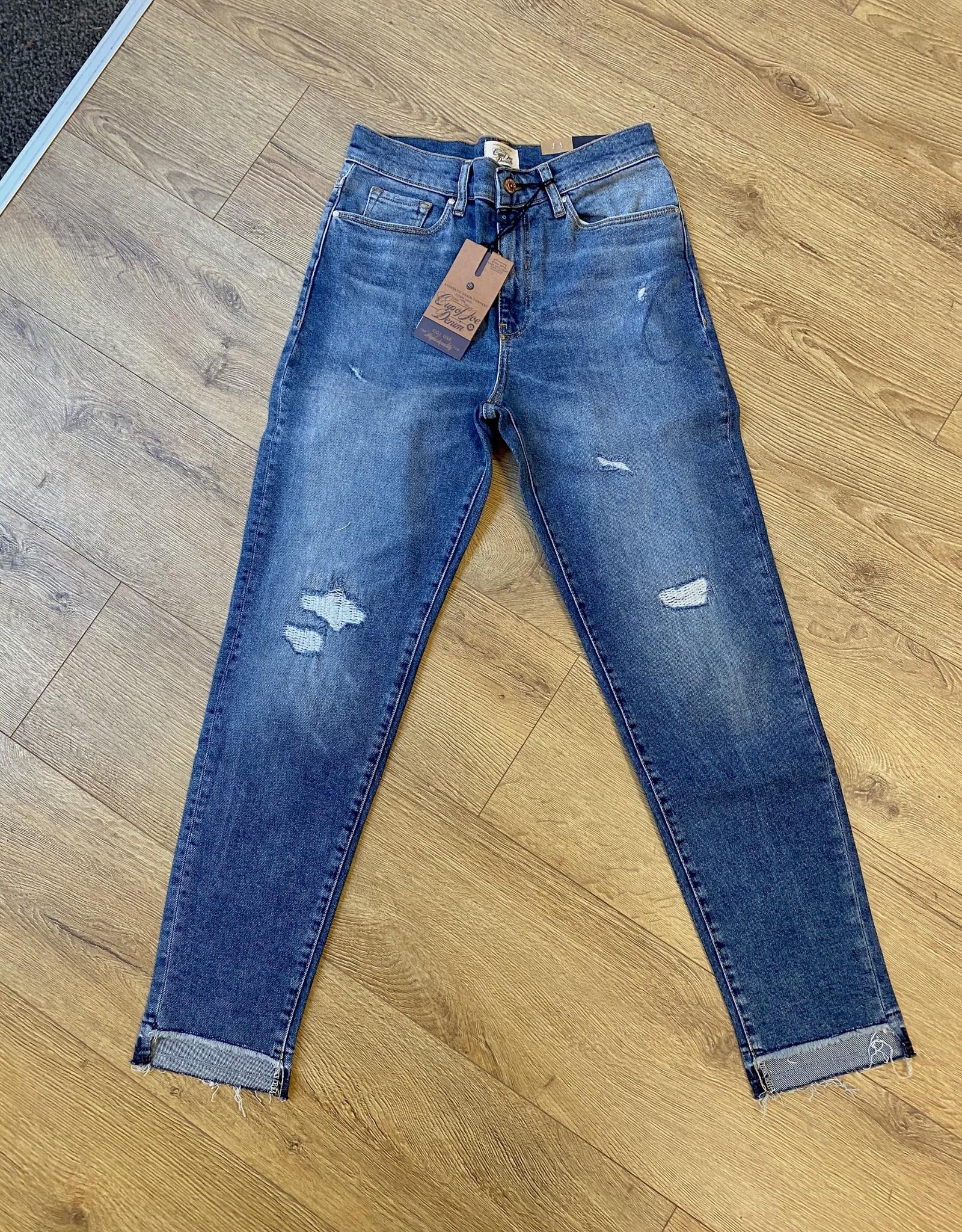 C.O.J. COJ Mom Jeans Helena Blue