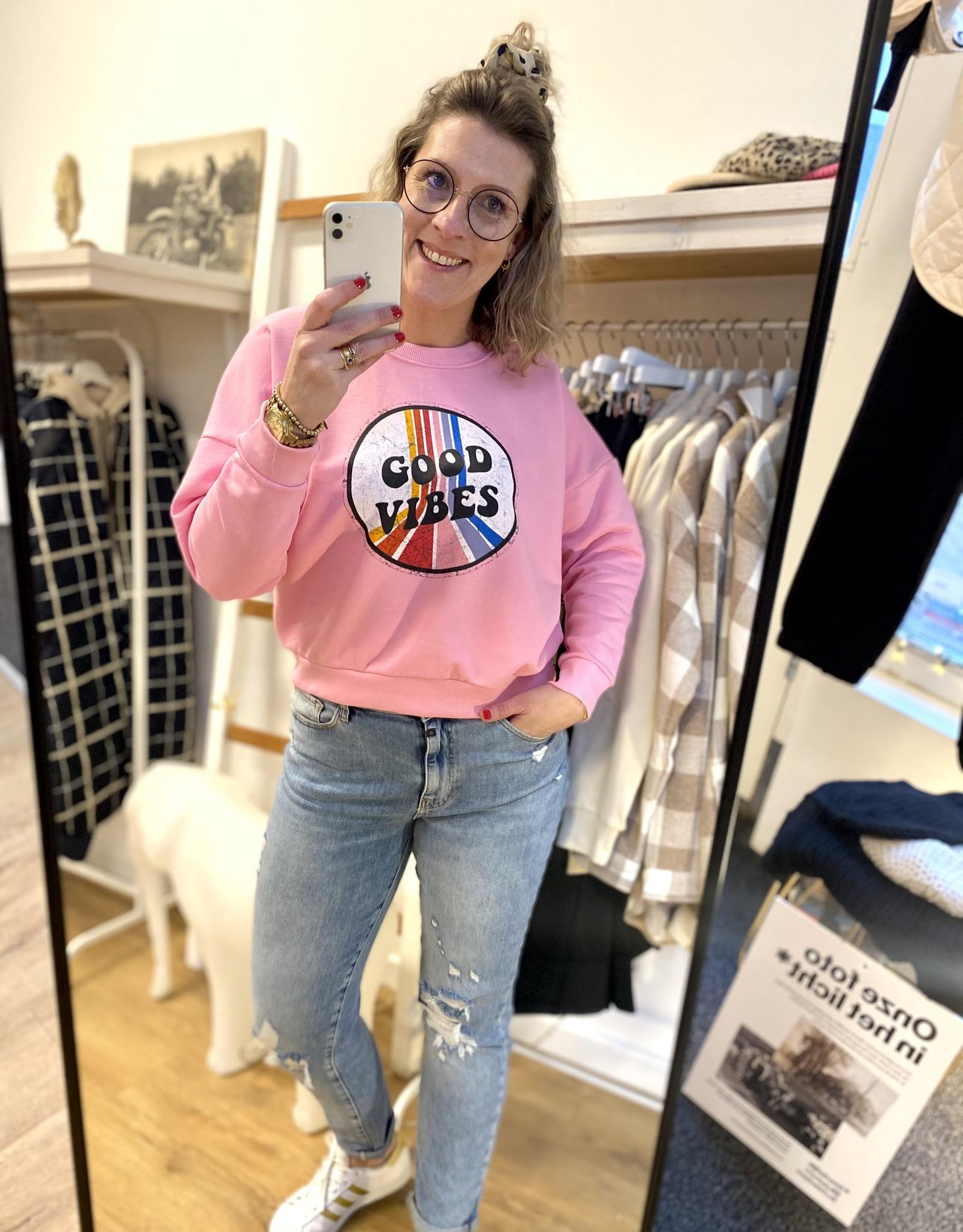 Sweater Good Vibes Roze