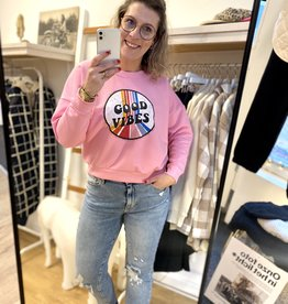 Sweater Good Vibes Roze