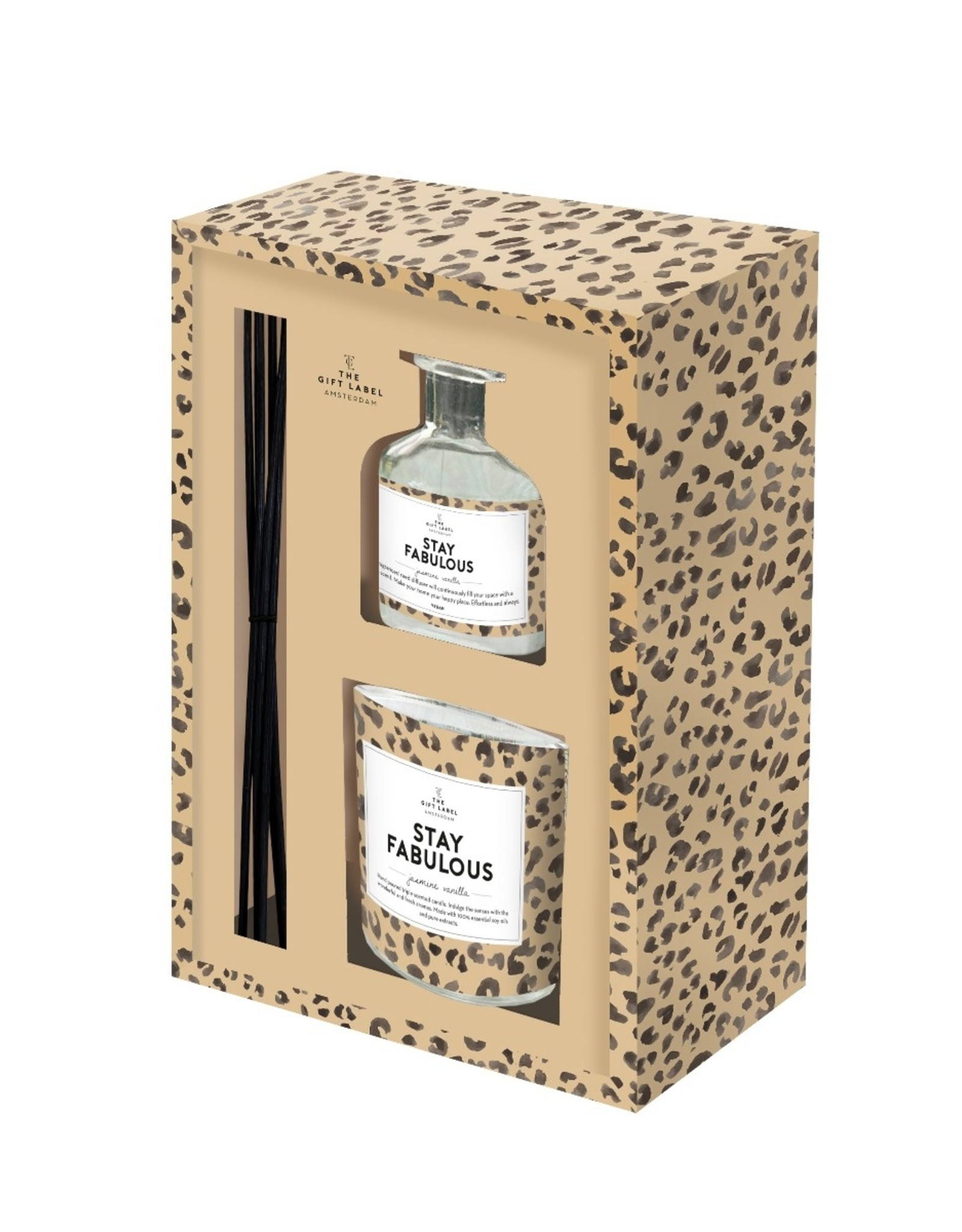 The Gift Label The Gift Label Gift Box Stay Fab Candle & Reed Diffuser