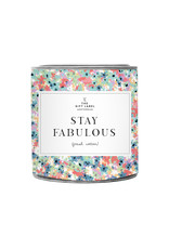 The Gift Label Candle Tin Stay Fabulous Fresh Cotton 21S