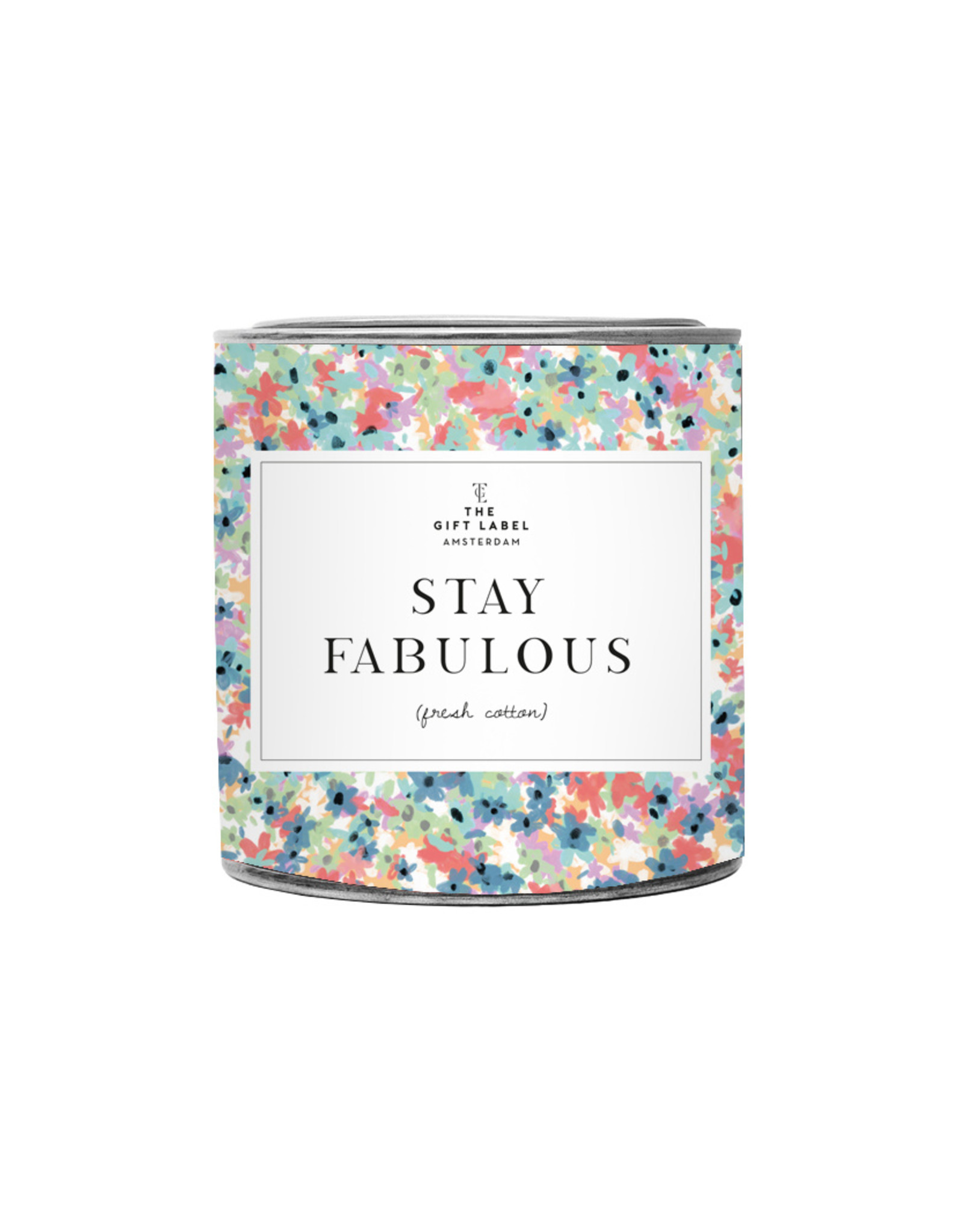The Gift Label The Gift Label Candle Tin Stay Fabulous Fresh Cotton21L