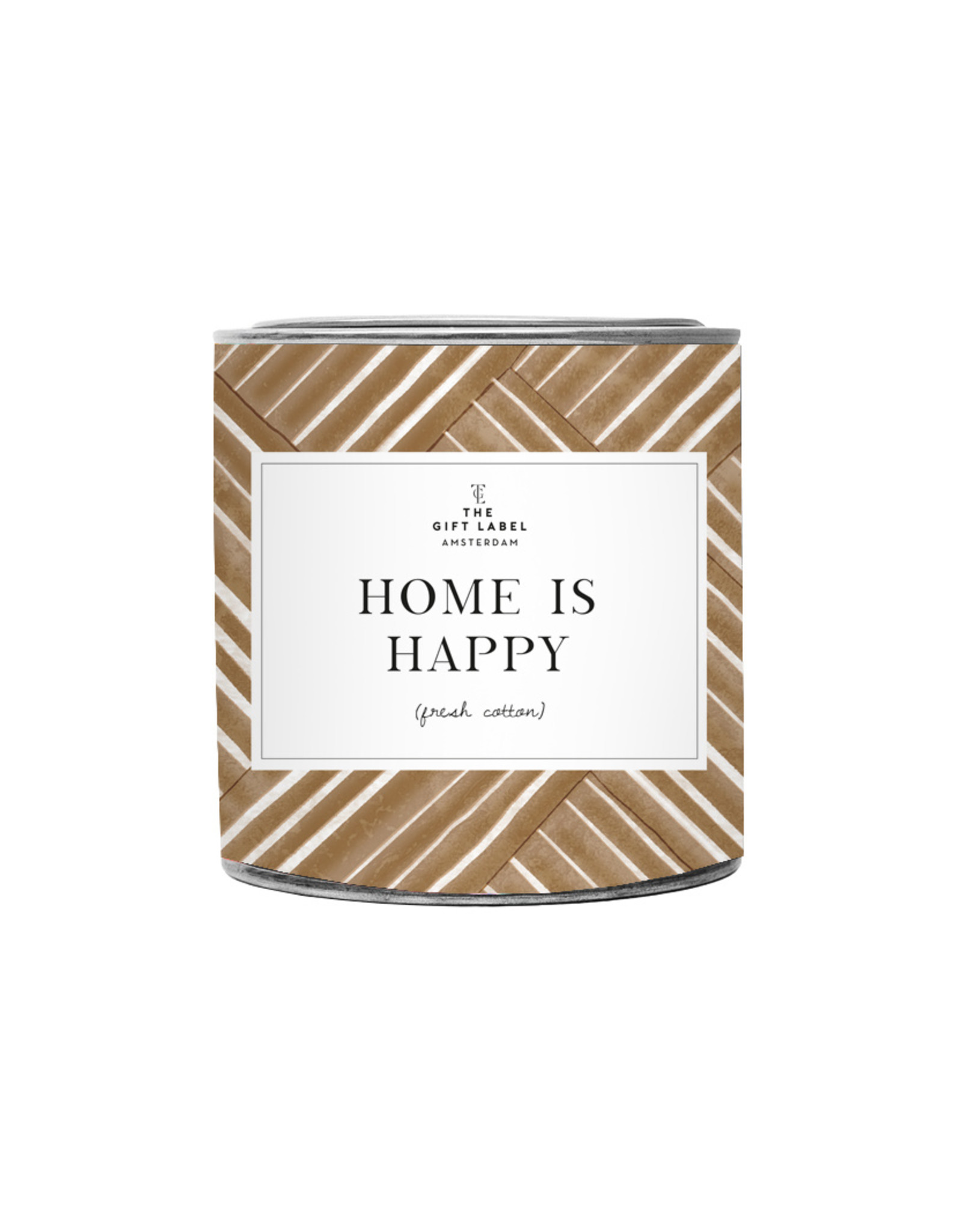 The Gift Label The Gift Label Candle Tin Home is Happy Jasmine / Vanilla 21L
