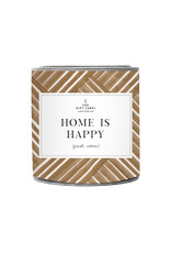 The Gift Label The Gift Label Candle Tin Home is Happy Jasmine / Vanilla 21S