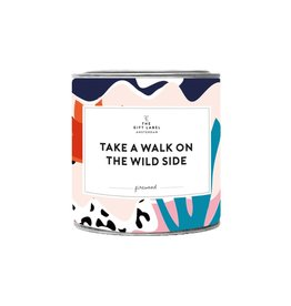 The Gift Label The Gift Label Candle Tin Take a Walk Fresh Cotton L