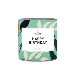 The Gift Label The Gift Label Candle Tin Happy Birthday Fresh Cotton L