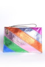 Leren Clutch Rainbow