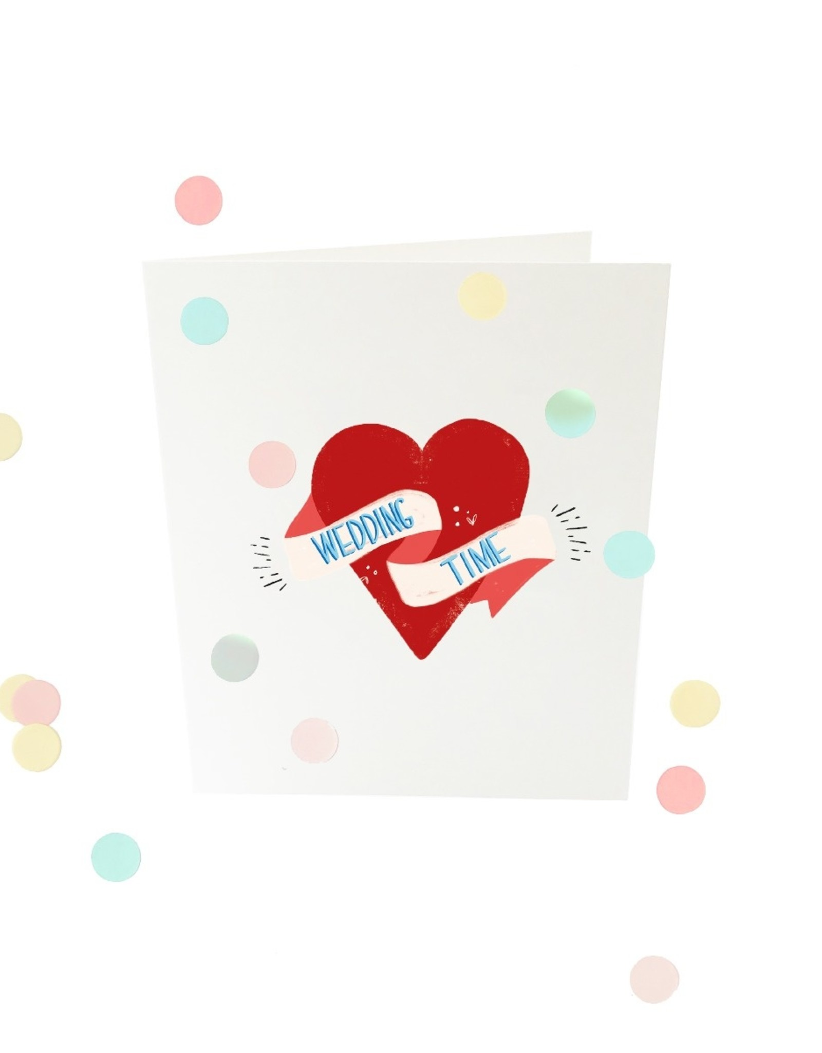 The Gift Label The Gift Label Confetti Card Wedding time