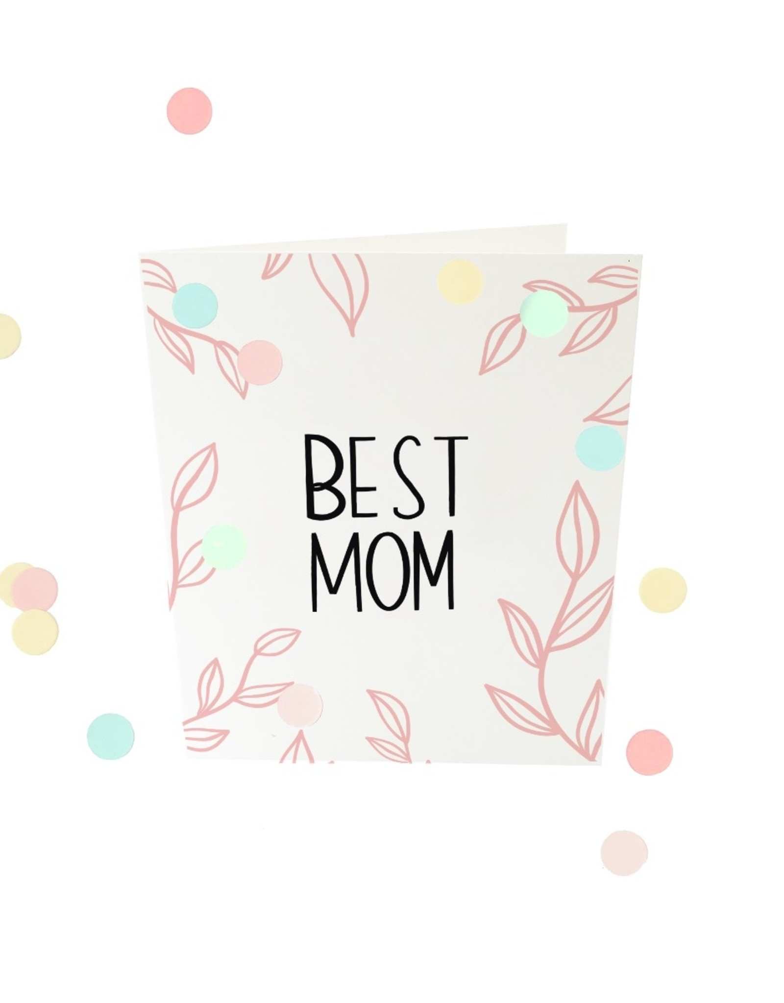 The Gift Label The Gift Label Confetti Card Best mom