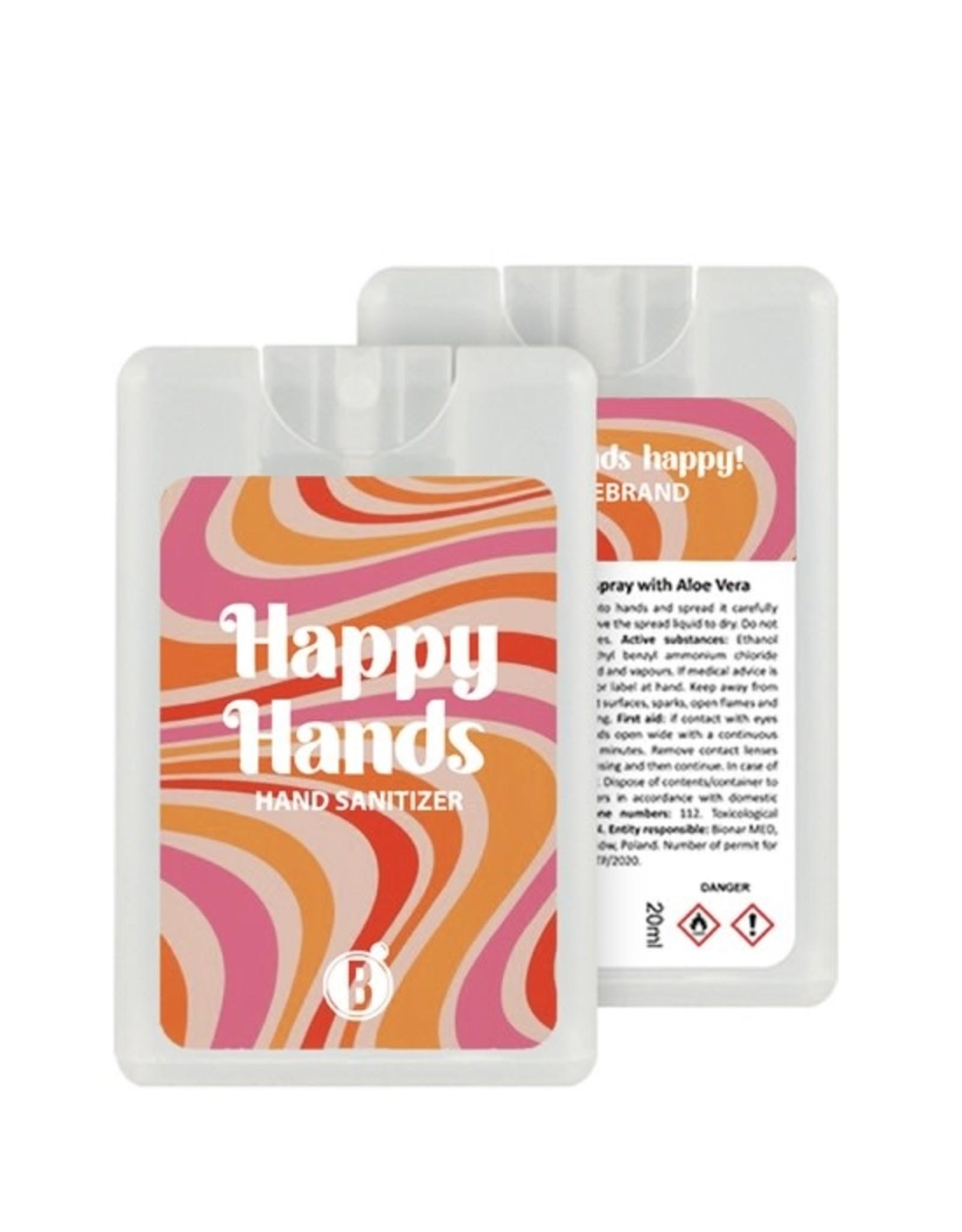 Bubbles The Brand Happy hands desinfectie spray Stripe Vibe