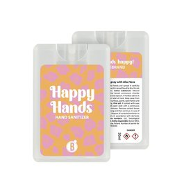 Bubbles The Brand Happy hands desinfectie spray Pink Leopard
