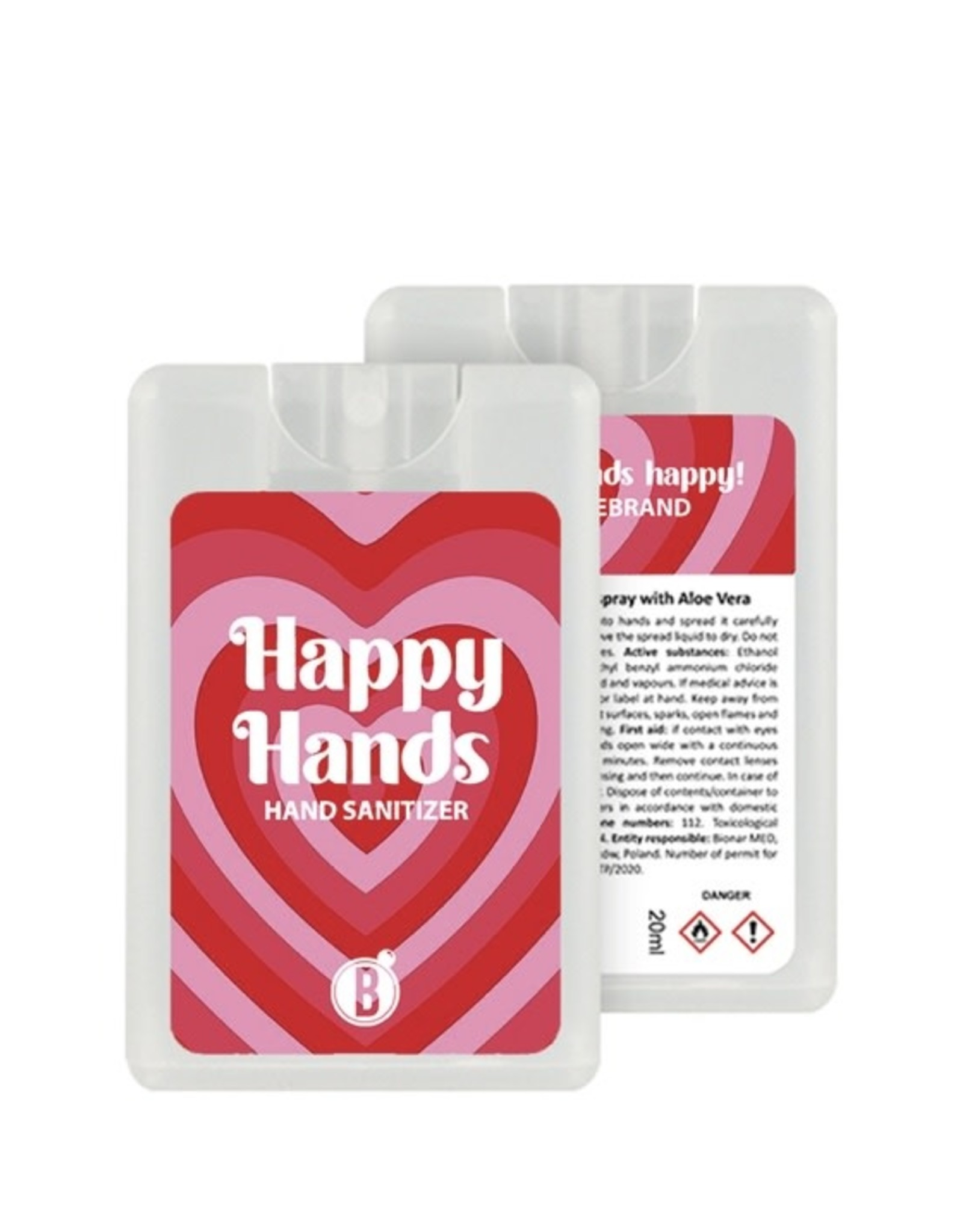 Bubbles The Brand Happy hands desinfectie spray Endless Love