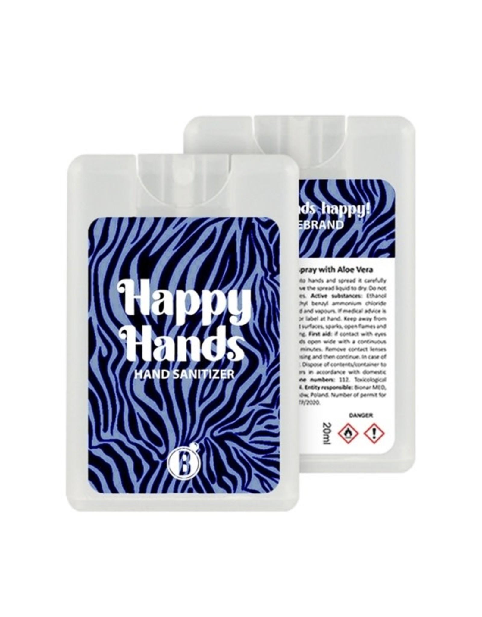 Bubbles The Brand Happy hands desinfectie spray Zebra Blues