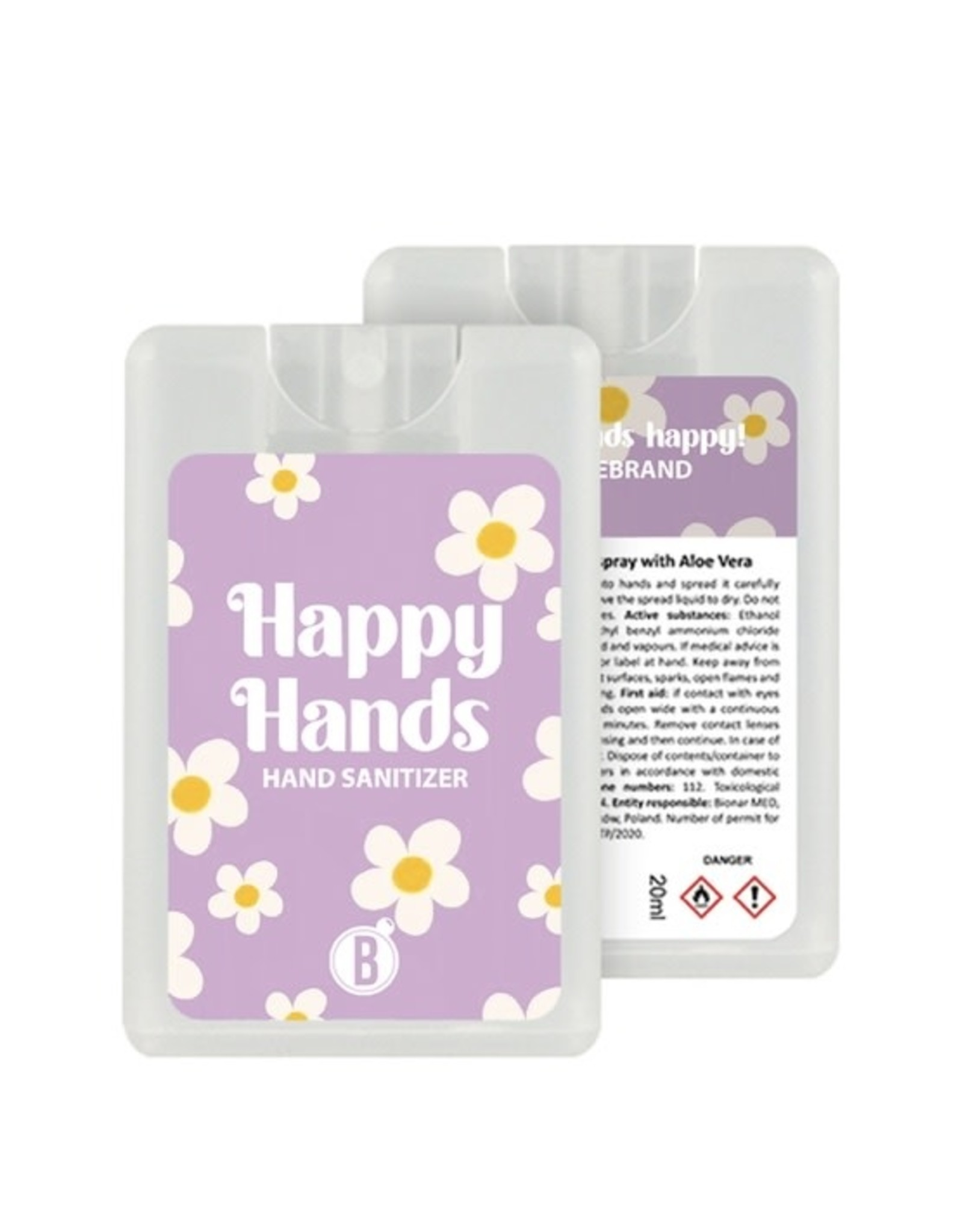 Bubbles The Brand Happy hands desinfectie spray Flower Power