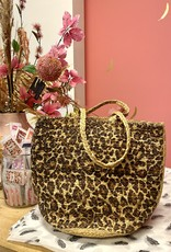 Bulu Bulu Leopard Jute Bag