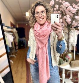 Rebelz Rebelz sjaal Roos licht roze