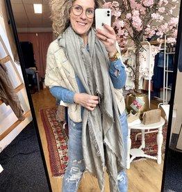 Rebelz Rebelz sjaal Roos licht grijs