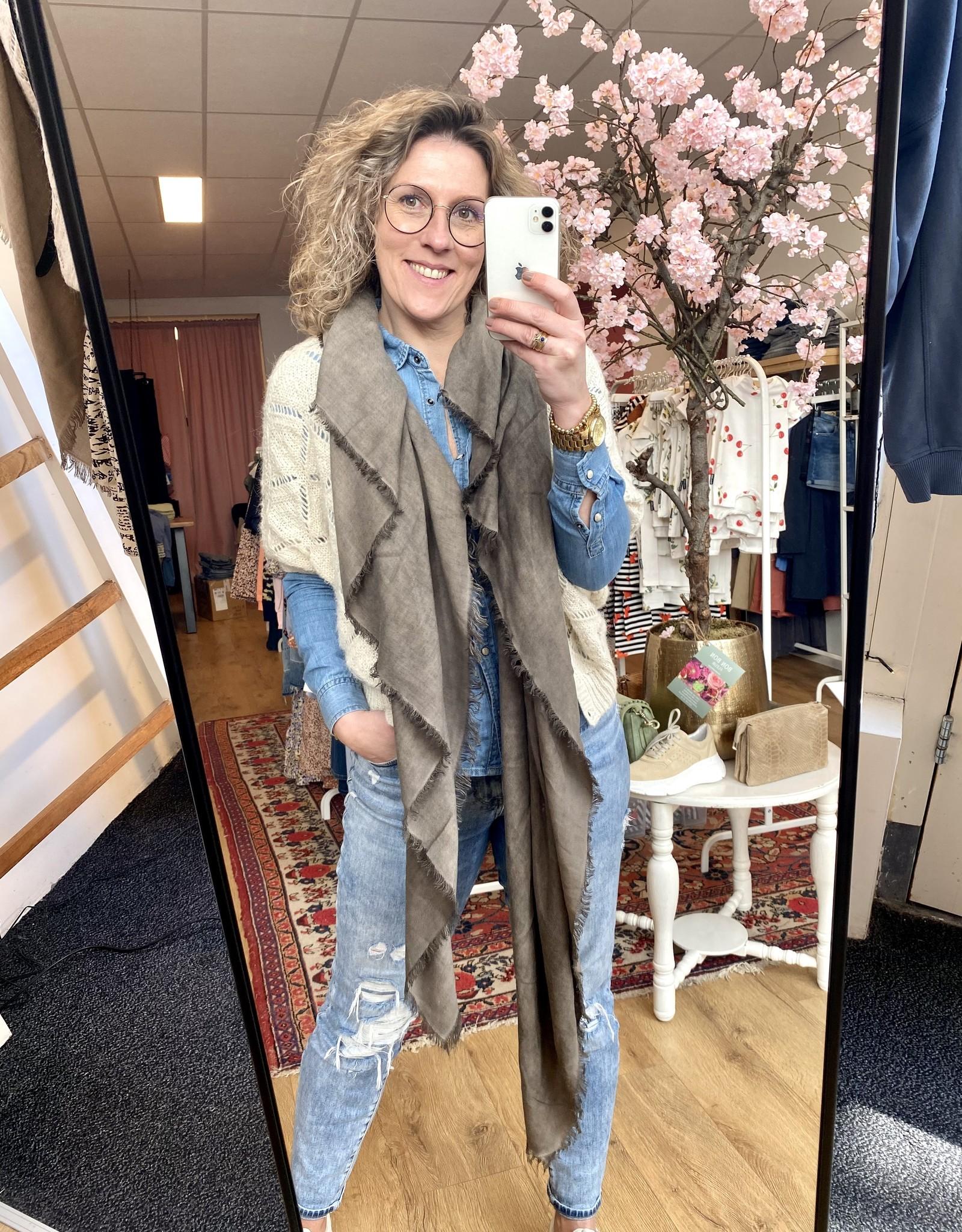 Rebelz Rebelz sjaal Roos licht bruin