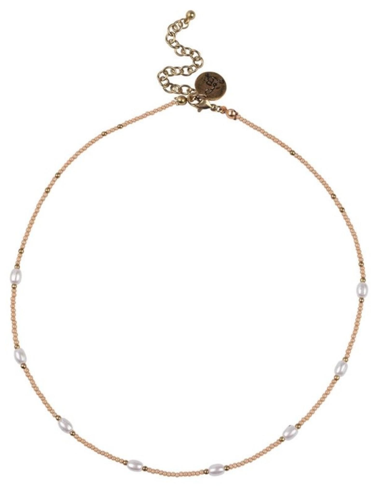 Bulu Bulu Happy Beads Necklace pearl pink