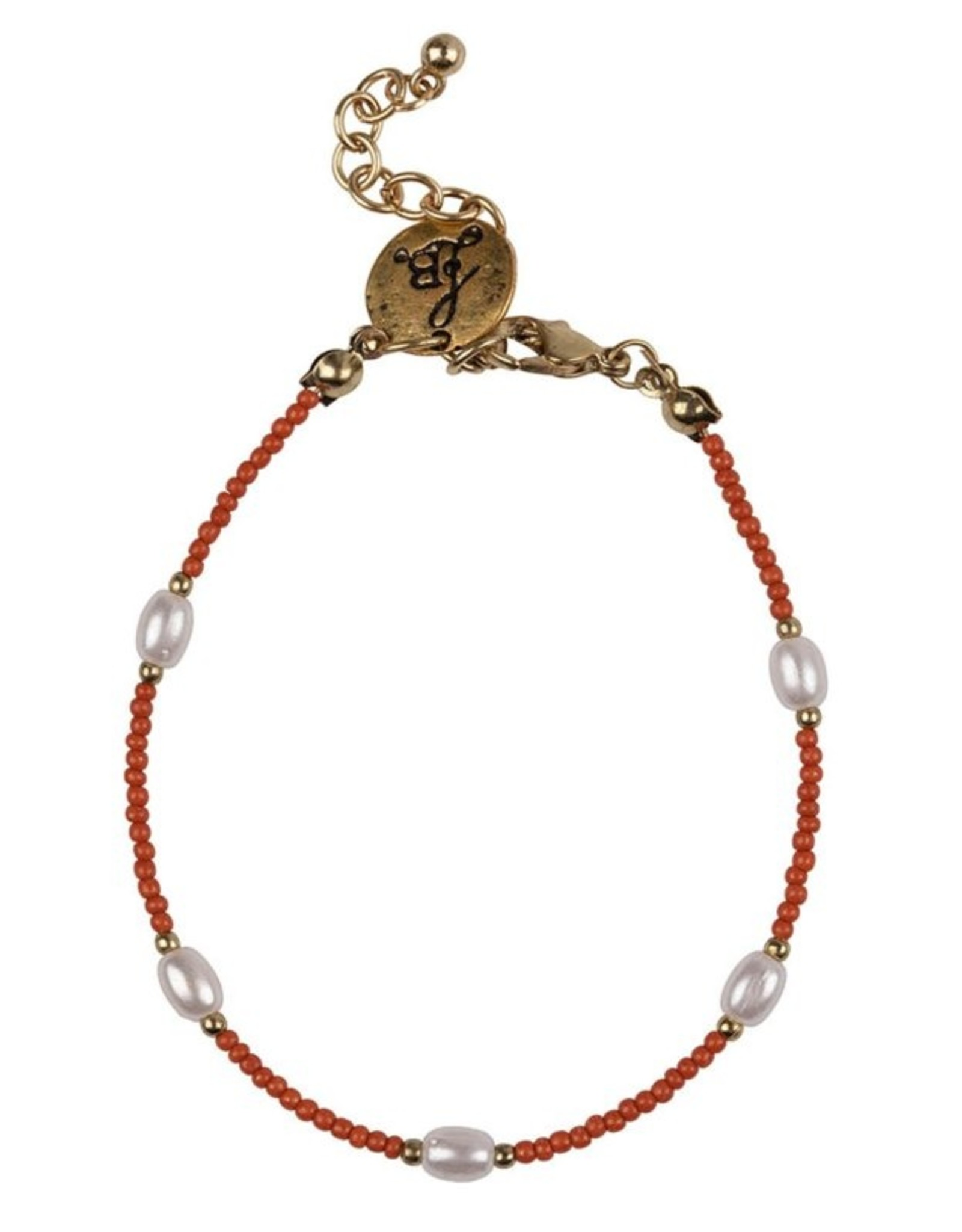 Bulu Bulu Happy Beads Bracelet pearl koraal