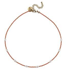 Bulu Bulu Happy Beads Necklace pearl Koraal