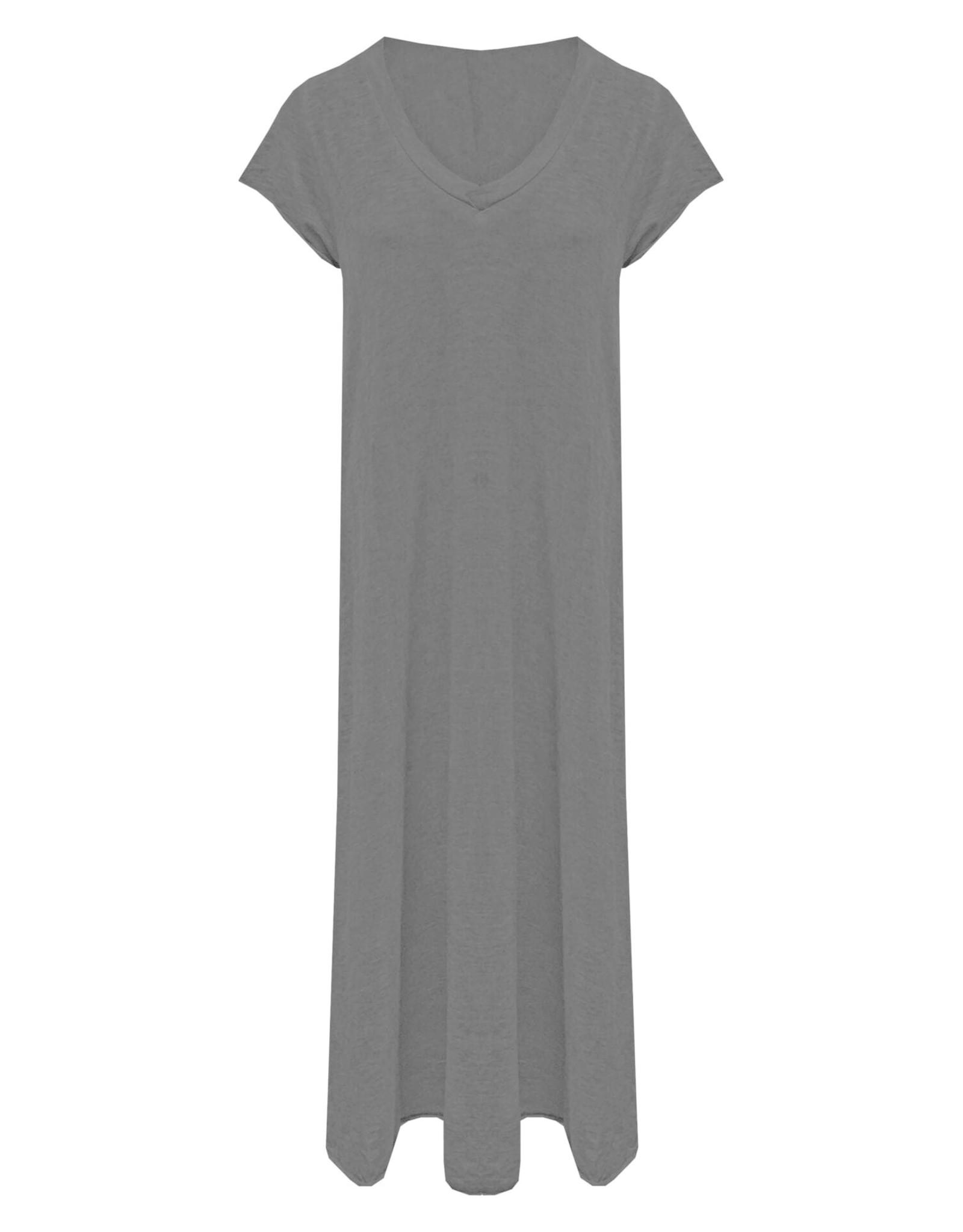 Maxi jurk v-hals Zwart