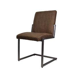 HSM Collection Stoel Dallas - cognac - iron/fabric
