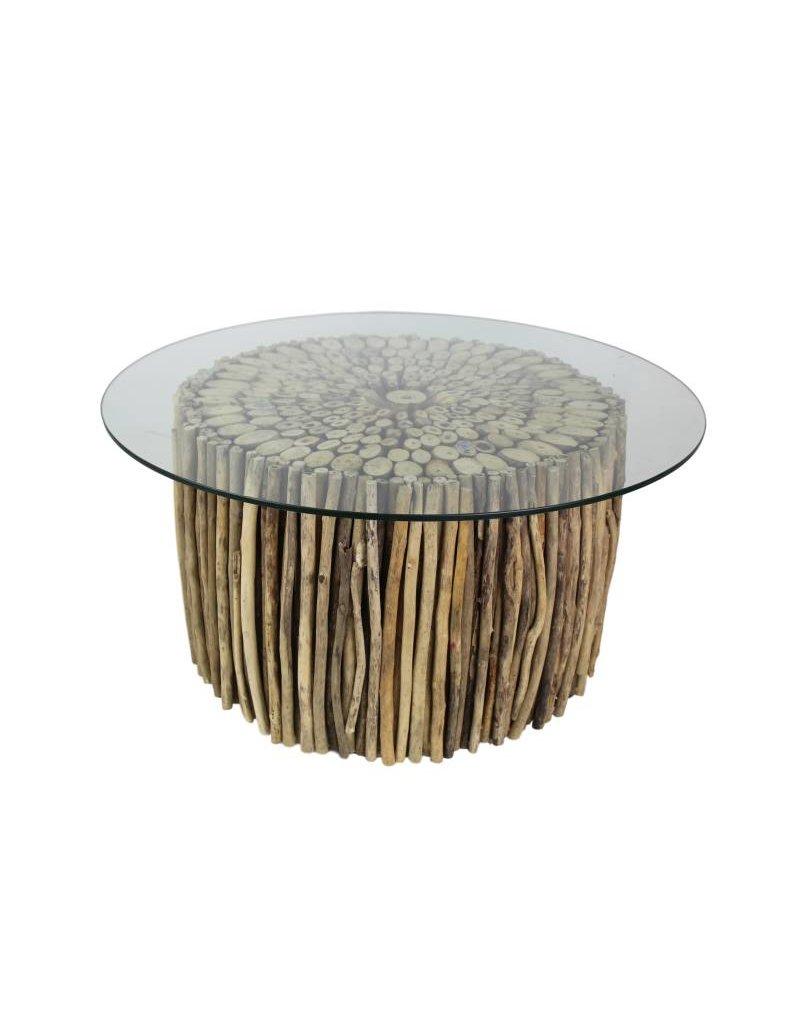Glazen Plaat Voor Salontafel.Kends Salontafel Glazenplaat Drijfhout