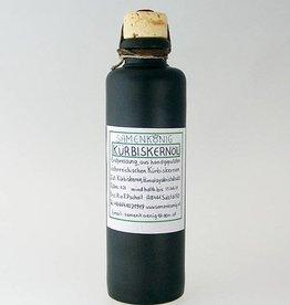 Kürbiskernöl in  Tonflasche