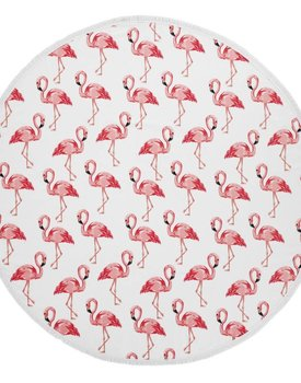 Arkhipelagos Strandlaken Sea of flamingos roundie 155x155
