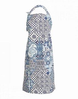 Linum MOSAIQUE keukenschort blauw