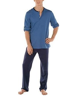 Calida men 49168 pyjama blauw S
