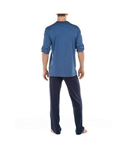 Calida men 49168 pyjama blauw S