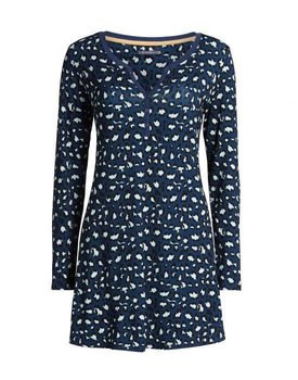 Essenza Acacia Animal Nightdress long sleeve Blue S