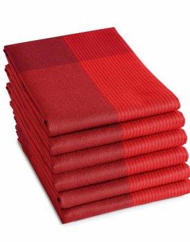 DDDDD Theedoek Blend 60x65 fire red
