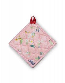 Pip Studio pannenlap Square Hummingbirds Pink 20x20cm