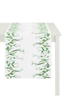Apelt Tafelloper voorjaarsbloem wit 48x135 cm