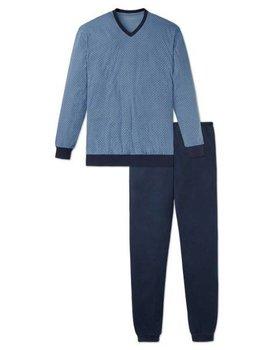 Schiesser heren pyjama 164289 donker blauw lang