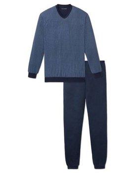Schiesser heren pyjama 164281 medium blauw lang
