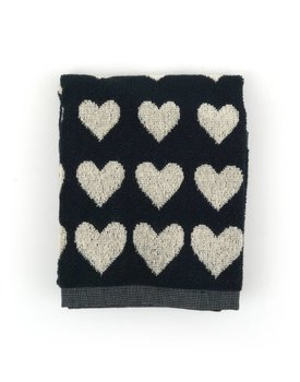 Bunzlau Castle keukendoek Hearts Black 53x60