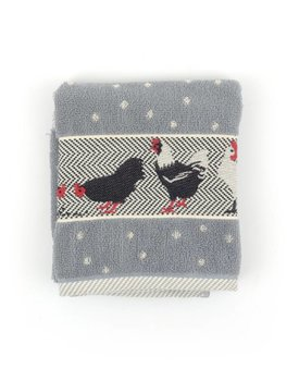 Bunzlau Castle keukendoek Chickens Grey 53x60