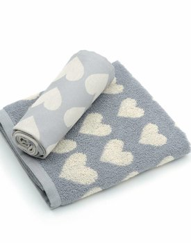 Bunzlau Castle keukendoek Hearts Grey 53x60