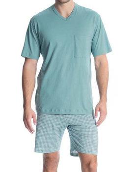 Calida herenpyjama 40080 kort zeegroen