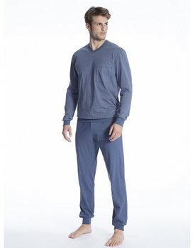Calida herenpyjama 40280 lang blauw