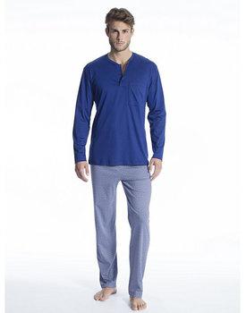Calida herenpyjama 49861 lang blauw