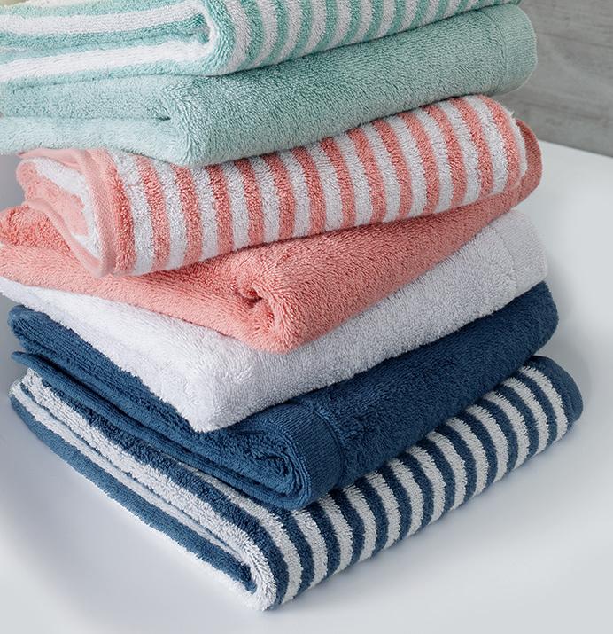 Cawö gestreepte handdoeken