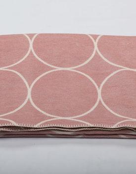 David Fussenegger plaid BAMBOO circles 150x200cm rose
