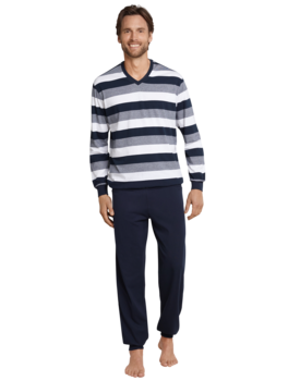 Schiesser Pyjama 159623 heren donkerblauw
