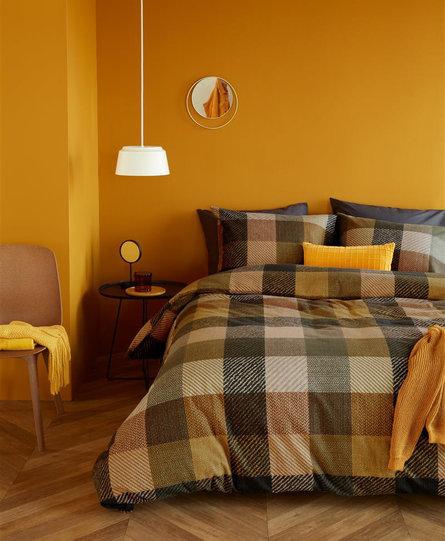 Beddinghouse dekbedovertrek Beckett geel